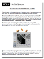 Instructions for Prostate Fiducial Marker Seed Placement