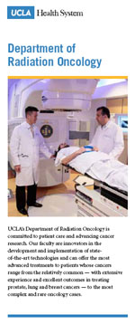 Department of Radiation Oncology Program Update